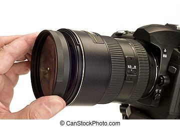 Putting Filter On Camera Lens