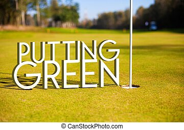 Putting green Golf course design background
