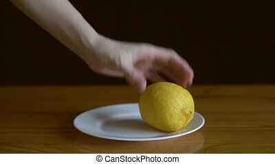 Putting lemons on a plate