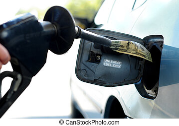 Putting money into the tank (high gas prices)