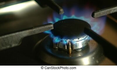 Putting pan off and on gas fire - Putting pan off then on...