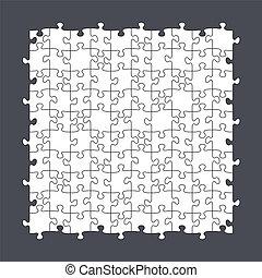 puzzel, 10x10, seamless, schablone