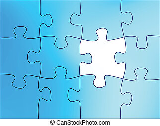 puzzel, abstrakt