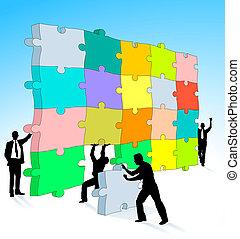 puzzel, dreidimensional
