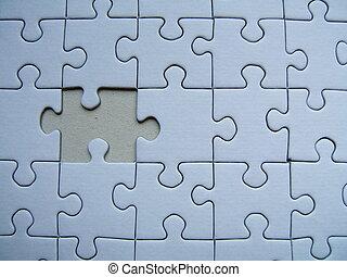 puzzel, einsam
