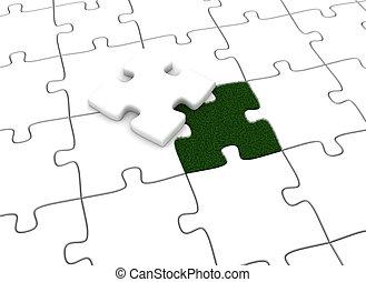 puzzel, grün
