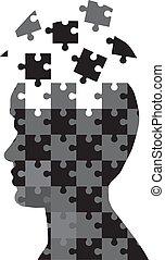 puzzel, mann
