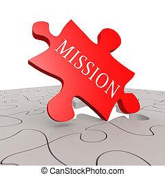 puzzel, mission