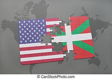puzzel, mit, der, nationales kennzeichen, von, vereinigten...