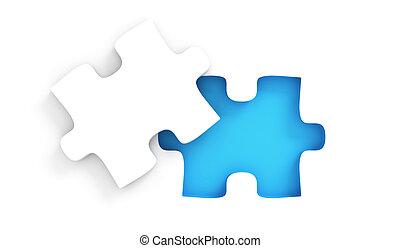 puzzel, peice, fehlend