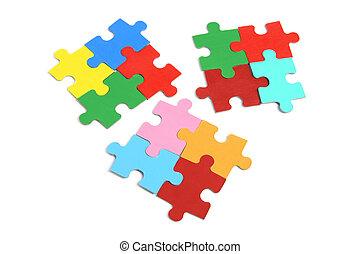 puzzel, puzzlespielstücke