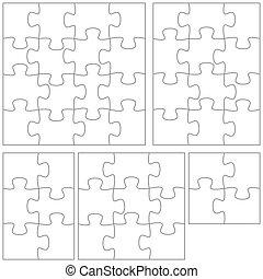puzzel, schablone