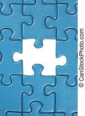 puzzel, stichsaege, letztes stück, fehlend