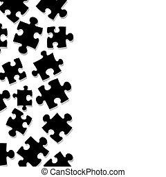 puzzel, umrandungen