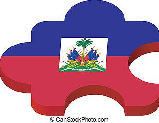 puzzel, vektor, haiti