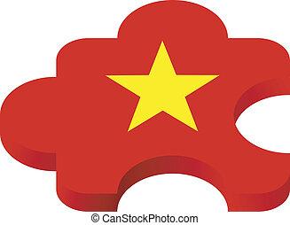 puzzel, vektor, vietnam