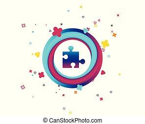 puzzel, zeichen, symbol., strategie, icon., stück