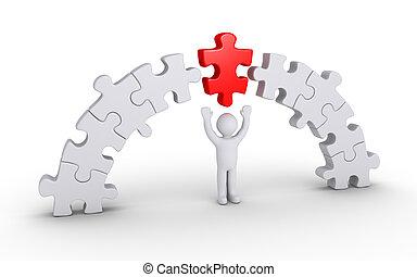 puzzelstuk, verbinding, bijzondere , stukken