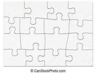 Puzzle 1 - Complete black white puzzle
