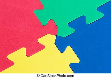 Macro of foam board puzzle