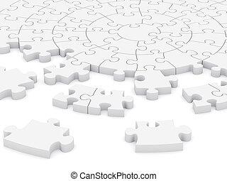 puzzle, 3d, circulaire
