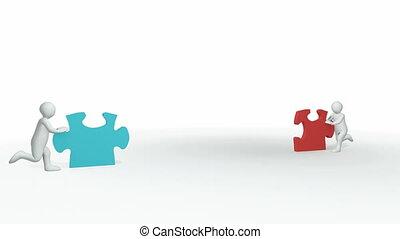 puzzle, 3d-couple