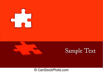 Puzzle abstract vector