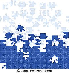 puzzle, amitié, équipe