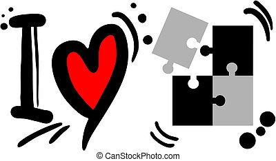 puzzle, amour
