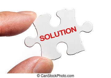 Solution - Puzzle and word Solution, business concept