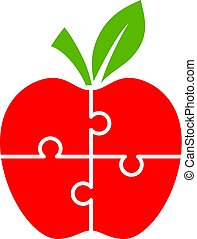 Puzzle apple diagram for infographics