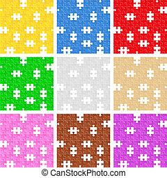 puzzle, arrière-plans, seamless