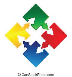 puzzle arrow