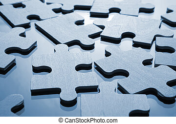 Puzzle - Assembling the puzzle piece by piece