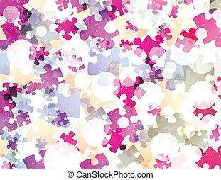 puzzle, astratto