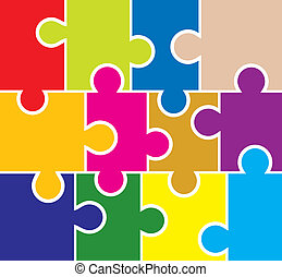Puzzle background, elements for design, vector illustration