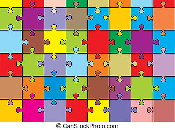 puzzle background - nice colorful puzzle composed as...