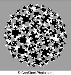 puzzle, balle