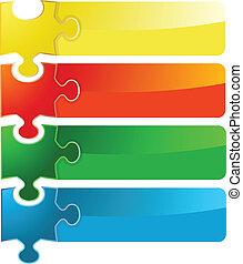 puzzle banner set