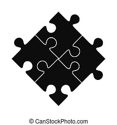 Puzzle black simple icon