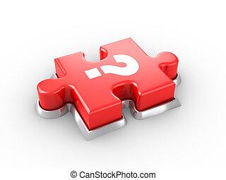 puzzle, bottone