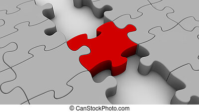 Puzzle Bridge - Illustration which emphasizes the concept of...
