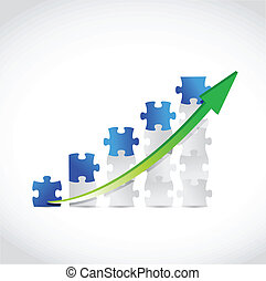 puzzle business graph illustration