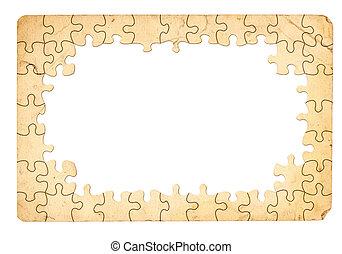 puzzle, cadre