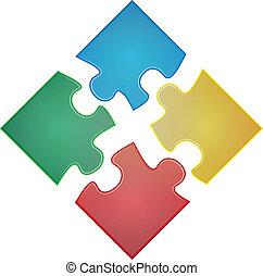 puzzle, carrée