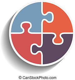 puzzle, cercle