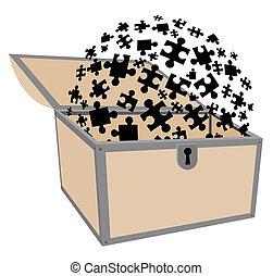 Puzzle chest - Creative design of puzzle chest