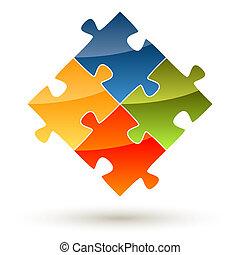 puzzle, collaboration