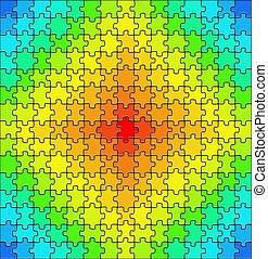 puzzle, coloré