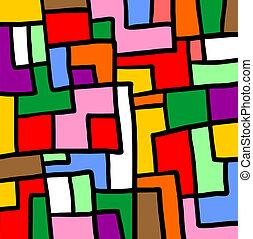 Puzzle color mosaic